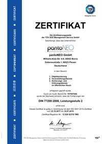 pantoNEO GmbH - DIN 77200:2008